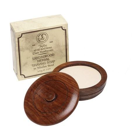 Jabón de afeitar y cuenco de madera Taylor of Old Bond Street (100g)