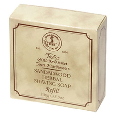 Taylor of Old Bond Street Sandalwood Shaving Soap Refill (100g)