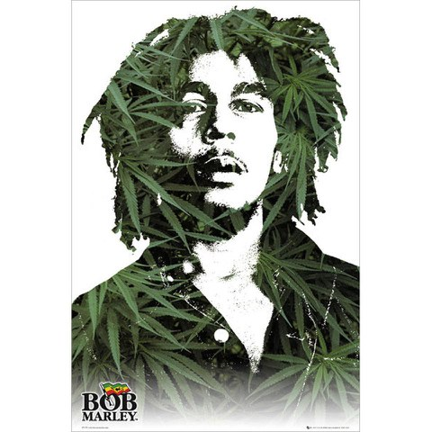 Bob Marley Leaves - Maxi Poster - 61 x 91.5cm
