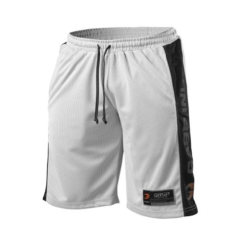 GASP No1 Mesh Shorts - White/Black