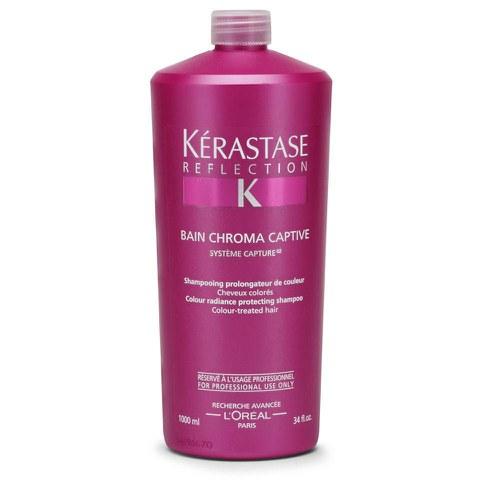 K rastase reflection bain chromacaptive 1000ml with pump for Kerastase bain miroir shine