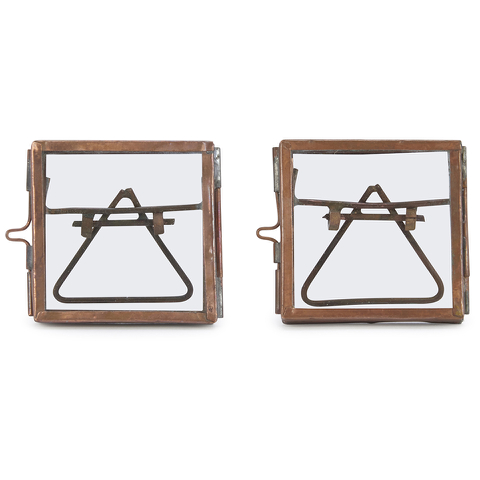 Nkuku Tiny Danta Frame - Antique Copper - Set of 2 - 5 x 5cm