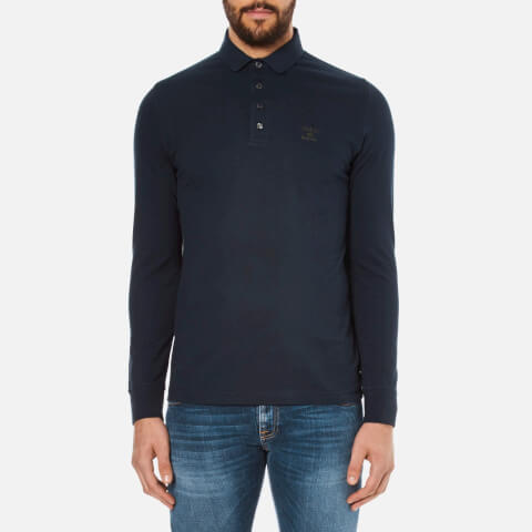 Barbour Heritage Men's Standard Long Sleeve Polo Shirt - Navy