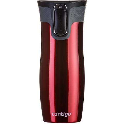 Contigo West Loop Autoseal Travel Mug with Lock (470ml) - Red