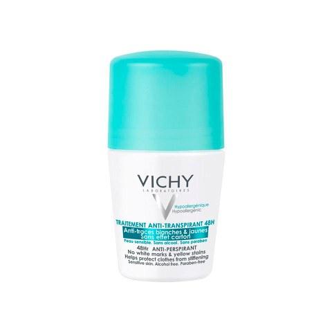 Vichy traitement anti-transpirant aérosol 48H anti-manches blanches et jaunes 125ml