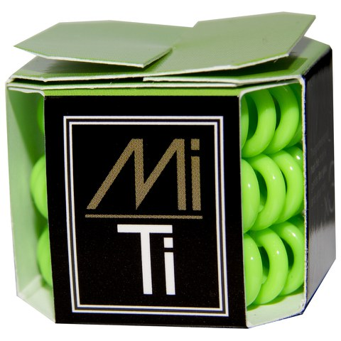 MiTi Professional Hair Tie - Fluorescent Green (3pc)