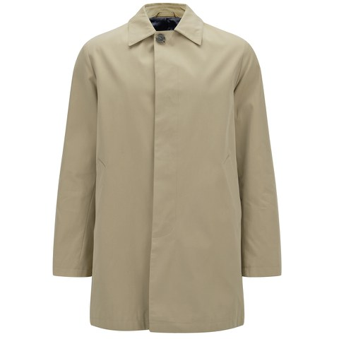 Knutsford Men's 'Made in England' Single-Breasted Raincoat - Stone