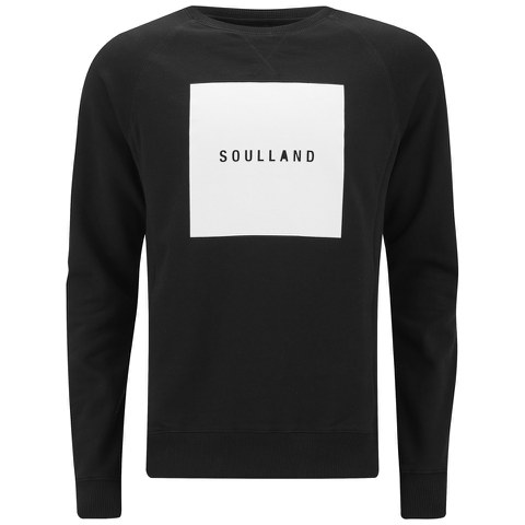 Soulland Men's Hendricks Printed Sweater - Black