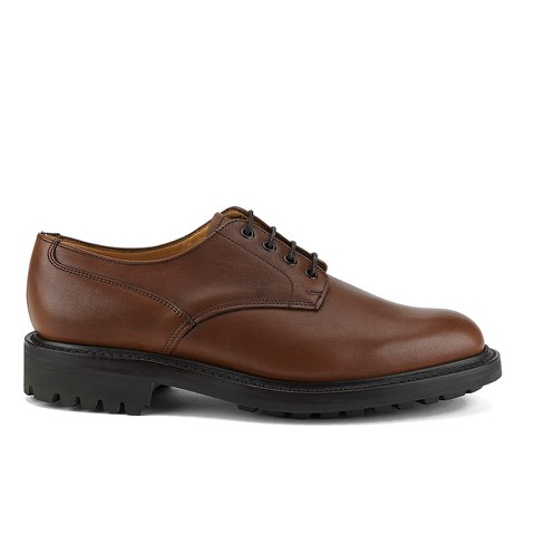 Sanders Men's Worcester Waxy Leather Derby Shoes - English Tan