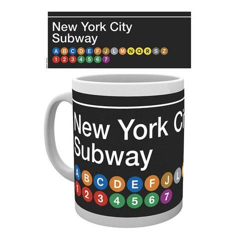 New York Subway Map - Mug