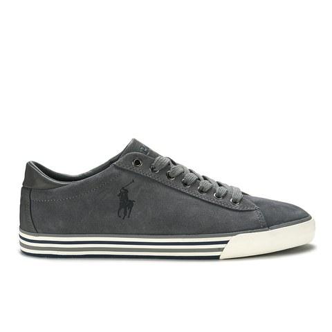 Polo Ralph Lauren Men's Harvey Suede Trainers - Charcoal Grey
