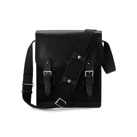 Aspinal of London Men's Shadow Small Messenger Bag - Black EBL