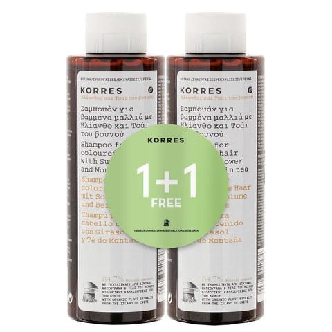 Korres Sunflower and Mountain Tea Shampoo 1 + 1 (im Wert von20 GBP)