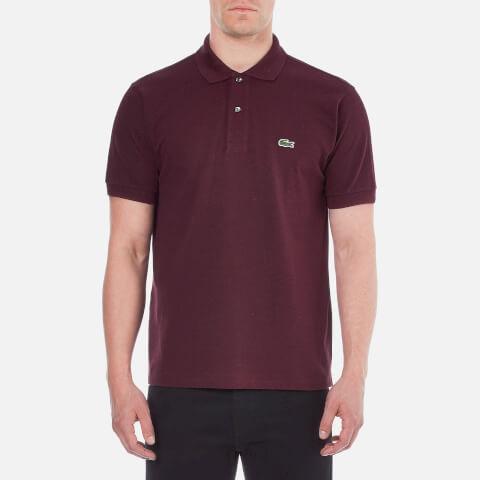 Lacoste Men's Short Sleeve Polo Shirt - Bilberry Bush Chine