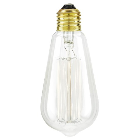 Nkuku Squirrel Cage Screw Filament Light Bulb - 13 x 6cm