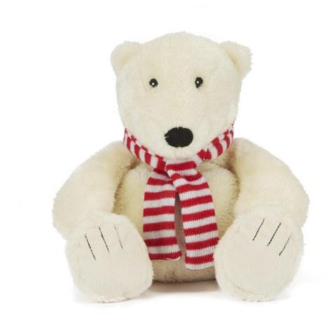 Beheizbare kuschelig Eisbär mit Schal