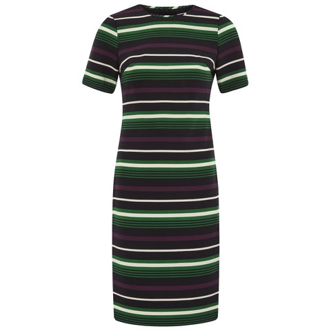 MICHAEL MICHAEL KORS Women's Mauborg Stripe Dress - Palmetto Green