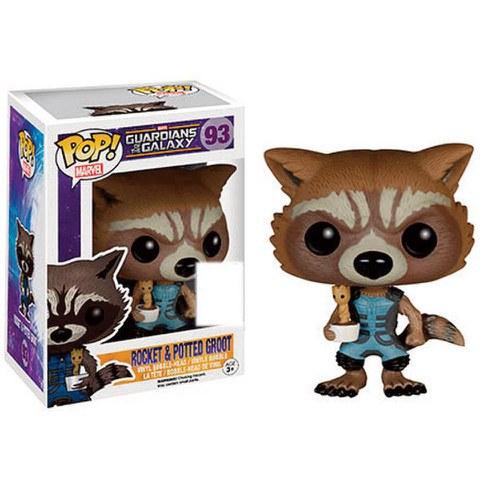 Marvel Guardians Of The Galaxy Rocket Raccoon Holding Baby Groot SDCC Exclusive Pop! Vinyl Figure