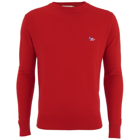 Maison Kitsuné Men's R-Neck Sweatshirt - Red