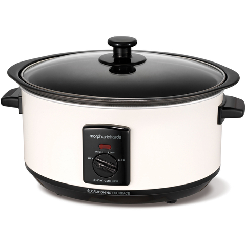 Morphy Richards 460003 Sear and Stew Slow Cooker - White - 3.5L