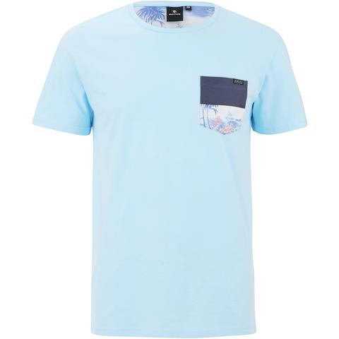 Rip Curl Men's Cruise Printed Chest Pocket T-Shirt - Light Blue