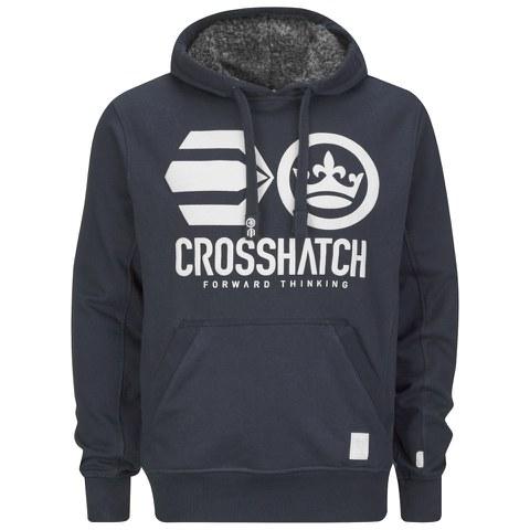 Crosshatch Men's Classix Print Hoody - Iris Navy