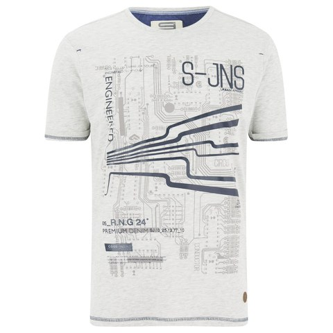 Smith & Jones Men's Dillington Print T-Shirt - Vaporous Grey