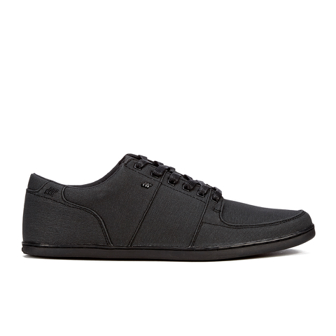 Boxfresh Men's Spencer Waxed Canvas Low Top Trainers - Black