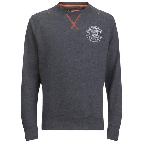 Crosshatch Men's Jaykie Crew Neck Sweatshirt - Charcoal Marl