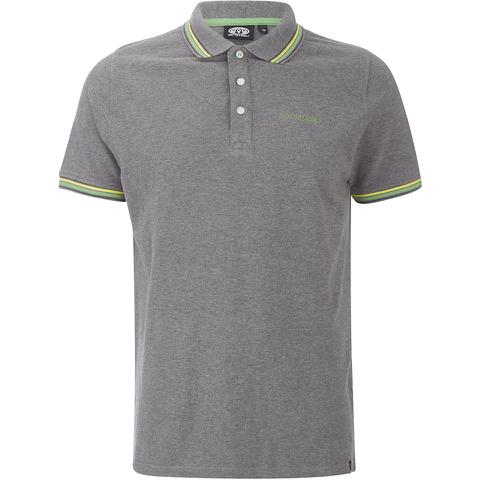 Animal Men's Pique Polo Shirt - Charcoal Grey Marl