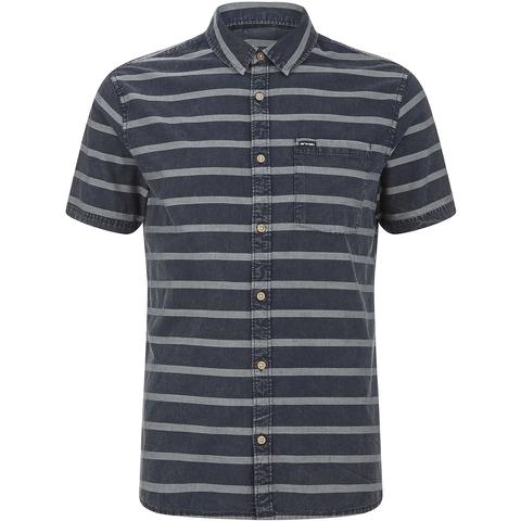 Animal Men's Acre Striped Short Sleeve Shirt - Indigo Blue