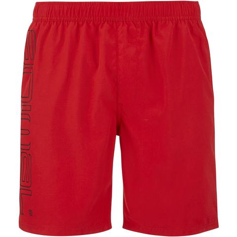 Animal Men's Belos Elasticated Waist Swim Shorts - Bright Red