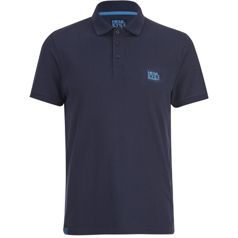 Henleys Men's Loaf Logo Collar Polo Shirt - Navy Blue