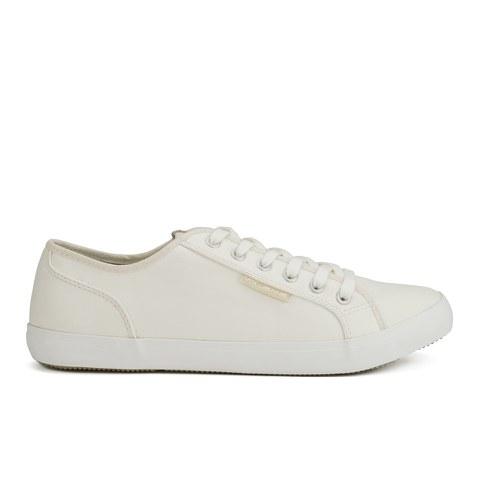 Voi Jeans Men's Chrome PU Trainers - White