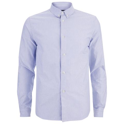 A.P.C. Men's Button Down Shirt - Blue
