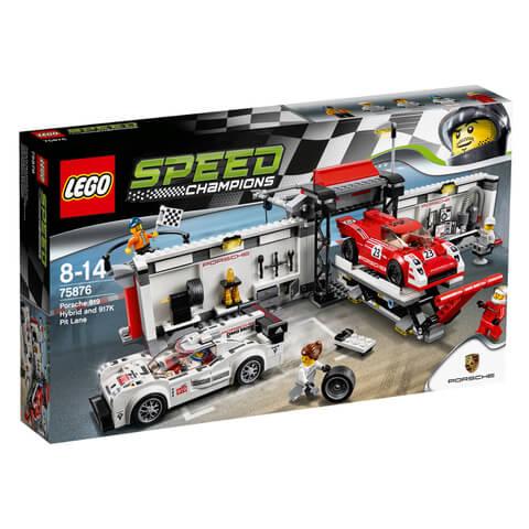 LEGO Speed Champions: Porsche 919 Hybrid and 917K Pit Lane (75876)