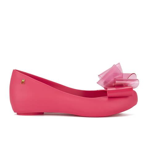 Melissa Women's Ultragirl Twin Bow Ballet Flats - Pink