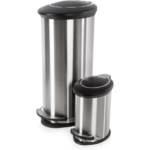 Morphy Richards 977102 Oval Pedal Bin Set - Stainless Steel - 30L & 5L