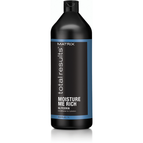 Matrix Total Results Moisture Me Rich Apres-Shampoing Hydratant (1000ml)