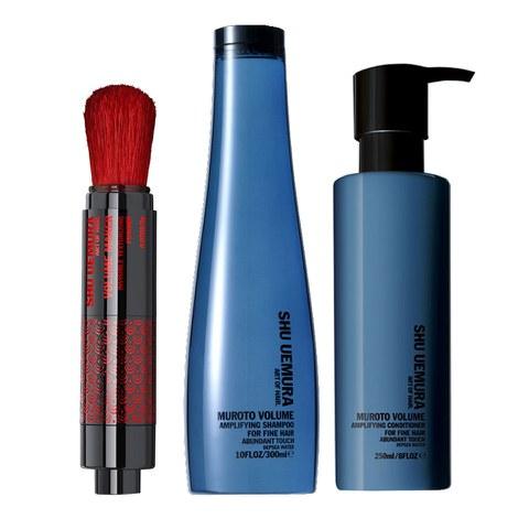 Shu Uemura Art of Hair Muroto Volume Pure Lightness Shampoo (300ml), Conditioner (250ml) and Volume Maker (2g)