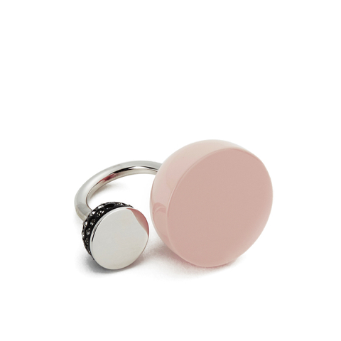 Marc by Marc Jacobs Women's Pave Cabachon Statement Ring - Blush