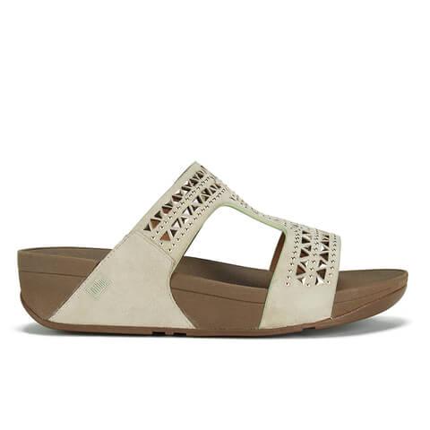 FitFlop Women's Carmel Slide Suede Sandals - Rose Gold