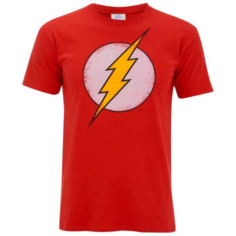 DC Comics Men's Flash Distress T-Shirt - Red