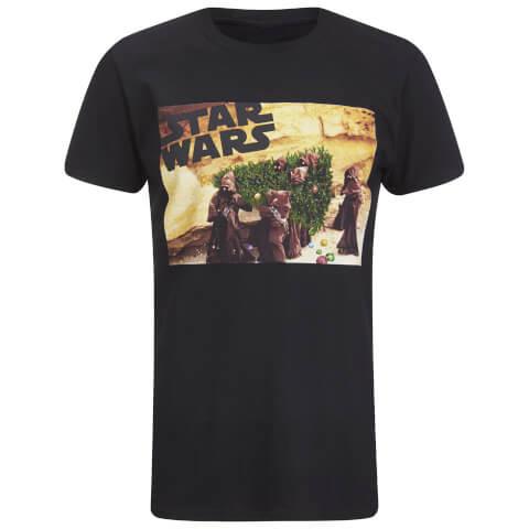 Star Wars Ewok Weihnachtsbaum Herren T-Shirt - Schwarz