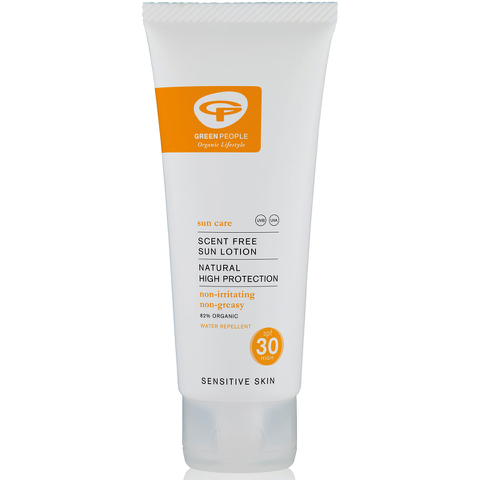 Green People Scent Free Sun Lotion SPF30 - Travel Size (100ml)