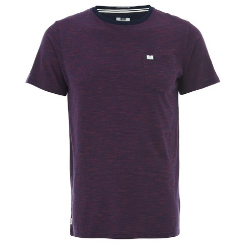 Weekend Offender Men's Catalan T-Shirt - Navy/Paprika