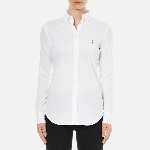 Polo Ralph Lauren Women's Heidi Long Sleeve Shirt - White