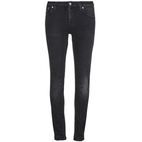Nudie Jeans Women's Skinny Lin 'Skinny/Curved Waist' Jeans - Used Black