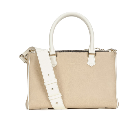 Paul Smith Accessories Women's Small Double Zip Leather Tote Bag - Cream