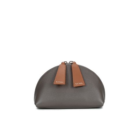Paul Smith Accessories Women's Leather Cosmetic Bag - Grey